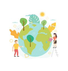 flat ecology save vector image