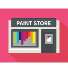 Flat hardware shop paint store vector