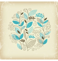 floral composition on old paper vector image