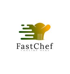 Food logo fast concept icon vector