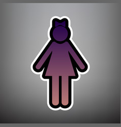 girl sign violet gradient vector image