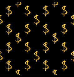 golden dollars seamless pattern background vector image