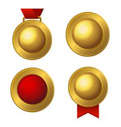 golden labels and medals set vector image