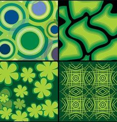 Green Background Set for Design vector