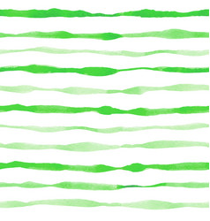 Green striped watercolor seamless pattern vector