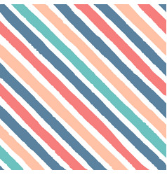 Hand drawn diagonal grunge stripes of red blue vector