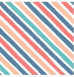 hand drawn diagonal grunge stripes red blue vector image