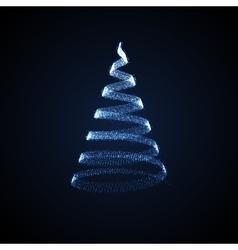 Holiday of Christmas tree vector image