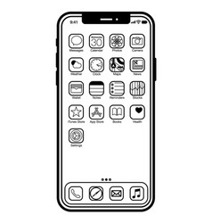 Iphone x - image for web or print vector