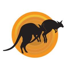 Kangaroos Running vector