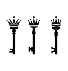 keys with crown vector image