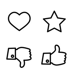 Like dislike voting and rating icon set hand with vector