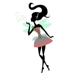Magic Fairy with wings vector image