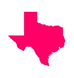 Map texas vector