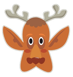 Mask deer vector image