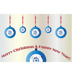 merry christmas card with evil eye vector image