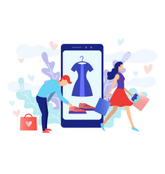 mobile shopping consept vector image