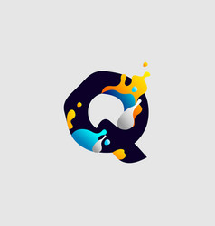 modern color full letter logo initial letter vector image
