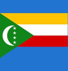 national flag of comoros vector image