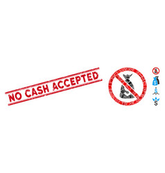 No funds mosaic and scratched no cash accepted vector