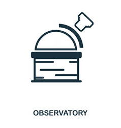 observatory icon flat style icon design ui vector image