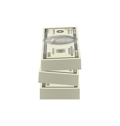 pile of money banknotes isolated isometric icon vector image
