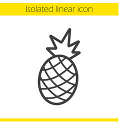 Pineapple linear icon vector