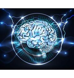 power of brain vector image