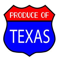 Produce of texas vector