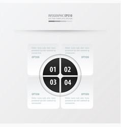 rectangle presentation design black and white vector image