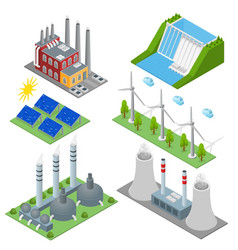 Renewable resources and traditional energy power vector