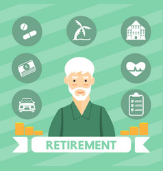 retirement vector image
