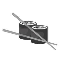 Rolls suchi japanese food vector