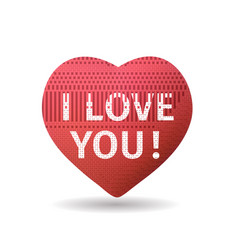 romantic declaration of love vector image
