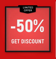 sale 50 percent off get discount website button vector image