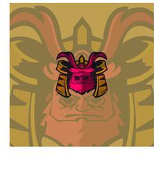 samurai mascot logo vector image