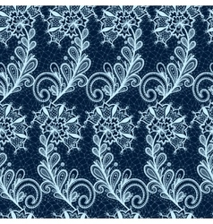 Seamless lace floral pattern vector image
