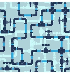 Seamless pattern with water pipeline vector image