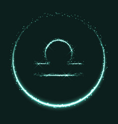 Shiny astrological symbol libra vector