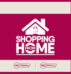 Shopping home logo label tag template design vector