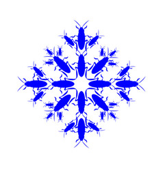 snowflake icon graphic collected from cockroaches vector image