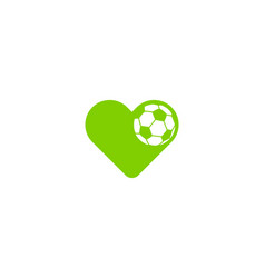 soccer love logo icon design vector image