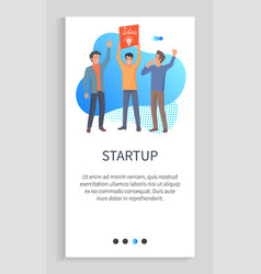 startup new idea for business innovation solution vector image