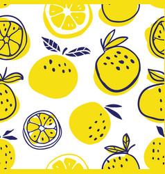 stylish oranges fruits seamless pattern vector image