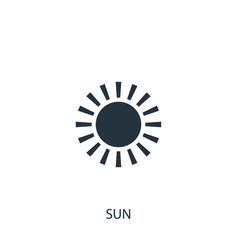 Sun icon simple gardening element symbol design vector