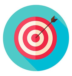 Target and Arrow Circle Icon vector