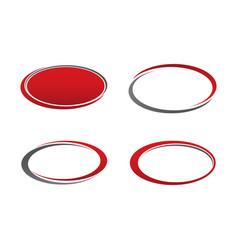 template emblem blank set design vector image