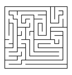Thin Line Style Maze on White Background vector image