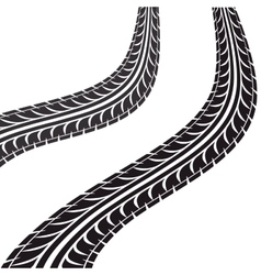 Tire tracks isolated icon vector