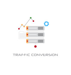 traffic conversion marketing optimization concept vector image